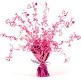Pink Hearts Foil Spray Balloon Weight Centrepiece