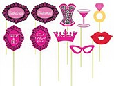 Hen Party Photo Booth Props 10pk