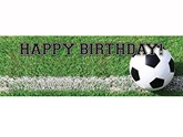 Football Happy Birthday Giant Party Banner