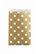 Mini Gold Polka Dot Paper Treat Bags 20pk