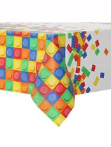 Block Party Plastic Tablecover