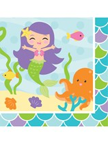 Mermaid Friends Luncheon Napkins 16pk