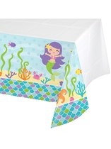 Mermaid Friends Plastic Tablecover
