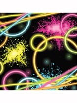 Glow Party Luncheon Napkins 16pk