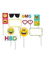 Emoji Photo Booth Props 10pce