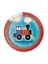 """All Aboard 7"""" Paper Plates 8pk"""