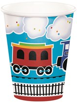 All Aboard Train Paper Cups 8pk