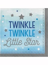 Blue Twinkle Little Star Luncheon Napkins 16pk