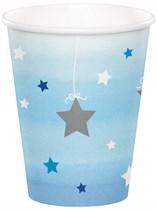 Blue Twinkle Little Star Paper Cups 8pk