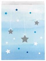 Blue Twinkle Little Star Paper Treat Bags 10pk