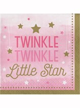 Pink Twinkle Little Star Luncheon Napkins 16pk