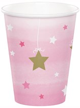 Pink Twinkle Little Star Paper Cups 8pk