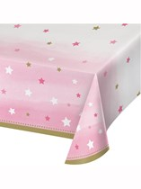 Pink Twinkle Little Star Plastic Tablecover
