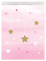 Pink Twinkle Little Star Paper Treat Bags 10pk