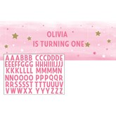 Pink Little Girl Twinkle Star Giant Personalised Banner