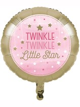 "Pink Twinkle Little Star 18"" Foil Balloon"
