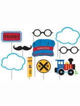 All Aboard Train Photo Booth Props 10pk