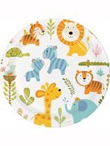 "Happy Jungle 9"" Paper Plates 8pk"