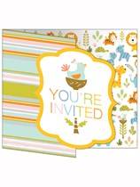 Happy Jungle Invitations & Envelopes 8pk