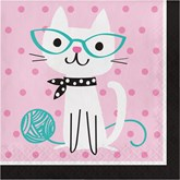 Purrfect Cat Party Paper Lunch Napkins 16pk
