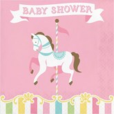 Carousel Baby Shower Lunch Napkins 16pk