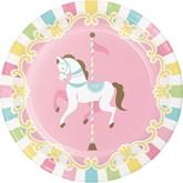 Carousel Baby Shower 18cm Paper Plates 8pk