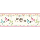 Carousel Baby Shower Giant Banner 50cm x 152cm