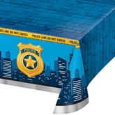 Police Party Rectangular Plastic Tablecover