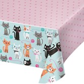 Purrfect Cat Party Rectangular Plastic Tablecover