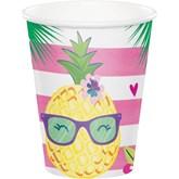 Pineapple 9oz Paper Cups 8pk