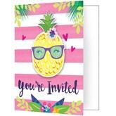 Pineapple Party Invitations & Envelopes 8pk