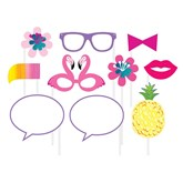 Pineapple Flamingo Summer Party Photo Props 10pk