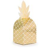 Gold Foil Pineapple Favour Boxes 8pk