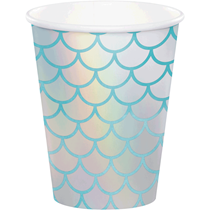 Iridescent Mermaid 9oz Paper Cups 8pk