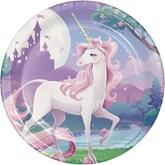 Unicorn Fantasy Lunch Paper Plates 8pk