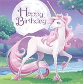 Unicorn Fantasy Birthday Lunch Napkins 16pk