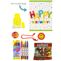 Happy Birthday Party Bag Pre-filled With 5 Items