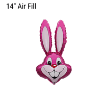 Pink Easter Rabbit Bunny Small 14 inch foil balloon