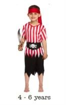 Child Pirate Fancy Dress Costume 4 - 6 yrs