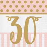 Deluxe 3-ply 30th Birthday Napkins 20pk