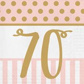 Deluxe 3-ply 70th Birthday Napkins 20pk