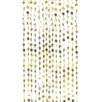 Gold Foil Star Backdrop Curtain Decoration
