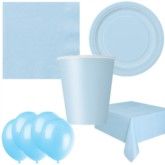 Baby Blue Bonus Party Pack for 8 people - 10 FREE BALLOONS