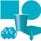 Caribbean Teal Bonus Party Pack for 8 people - 10 FREE BALLOONS