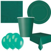 Forest Green Bonus Party Pack for 8 people - 10 FREE BALLOONS