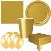 Gold Bonus Party Pack for 8 people - 10 FREE BALLOONS