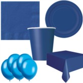 Navy Blue Bonus Party Pack for 8 people - 10 FREE BALLOONS