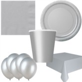 Silver Bonus Party Pack for 8 people - 10 FREE BALLOONS