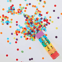 Rainbow Biodegradable Confetti Cannon Shooter 15cm