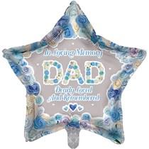 "Dad Memorial 18"" Star Shaped Foil Balloon"